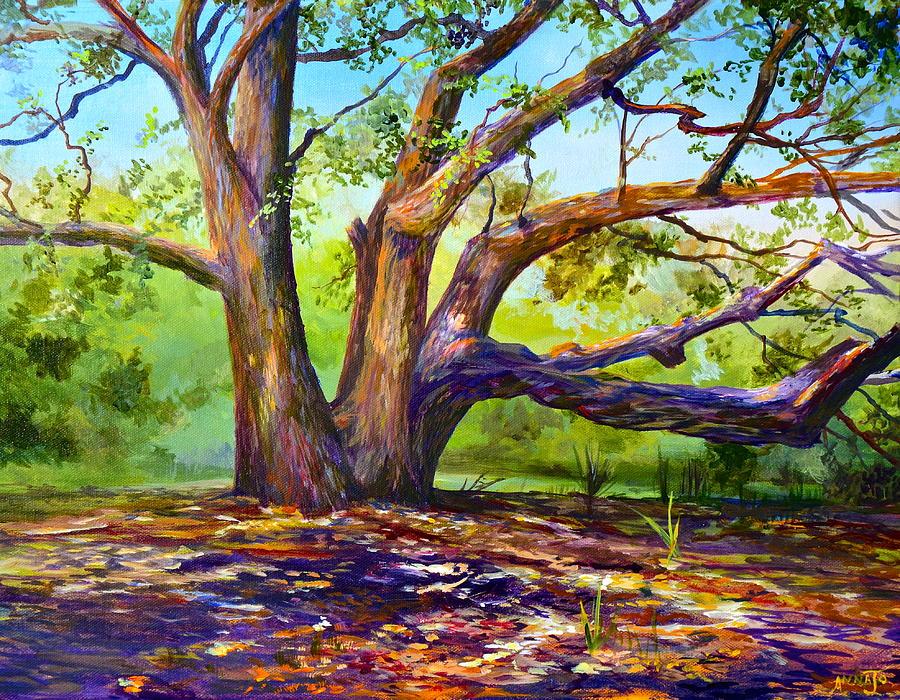 Merritt Island Painting - Braided Oak by AnnaJo Vahle