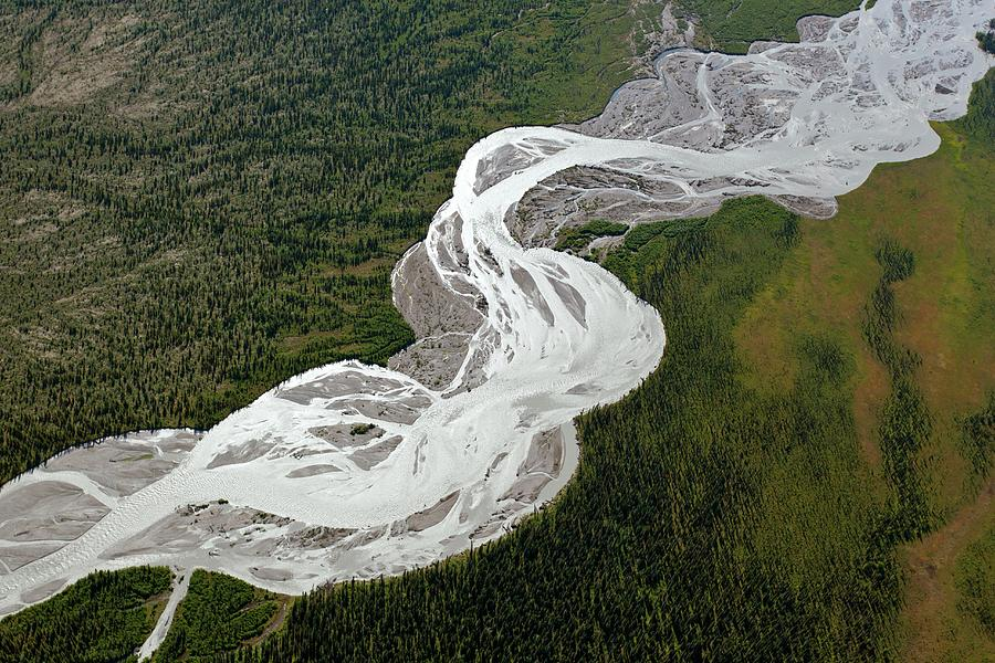 Earth Science Photograph - Braided River by Dr Juerg Alean/science Photo Library