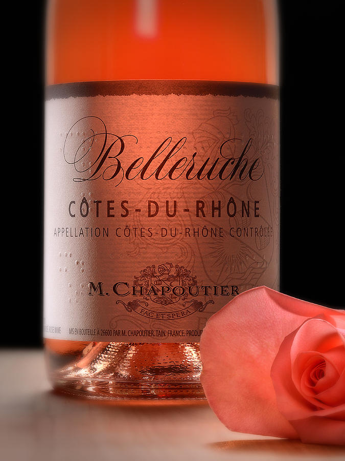 Rose Photograph - Brail Wine Label by Dennis James