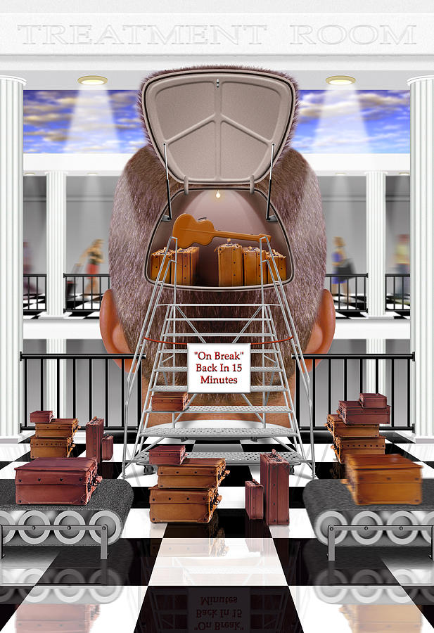 Surrealism Photograph - Brain Luggage 2 by Mike McGlothlen