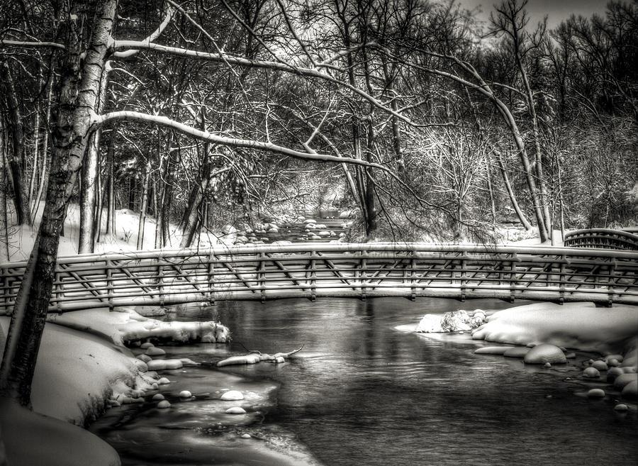 Brainards Bridge Park Photograph - Brainards Bridge After A Snow Storm 3 by Thomas Young