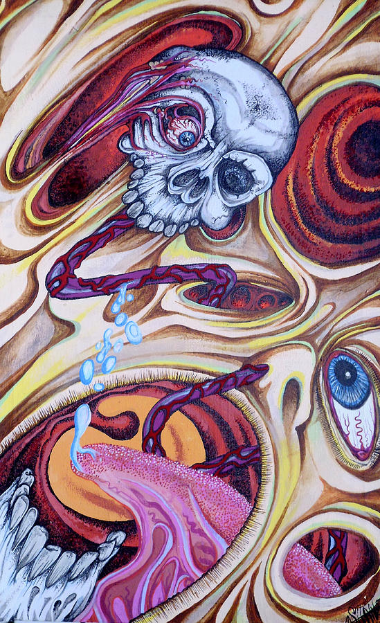 Psychedelic Painting - Brainlicker by Sam Hane