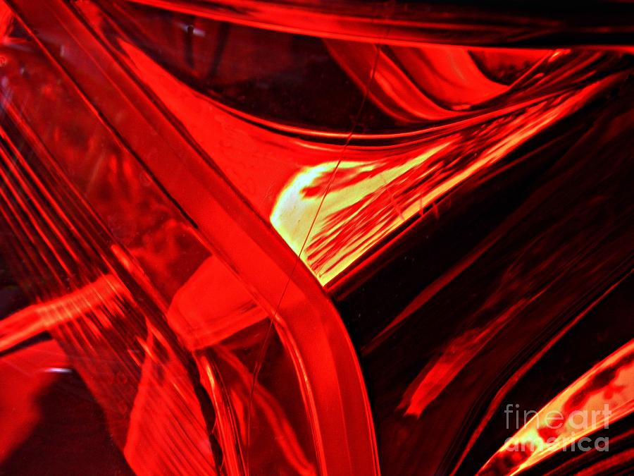 Glass Photograph - Brake Light 14 by Sarah Loft