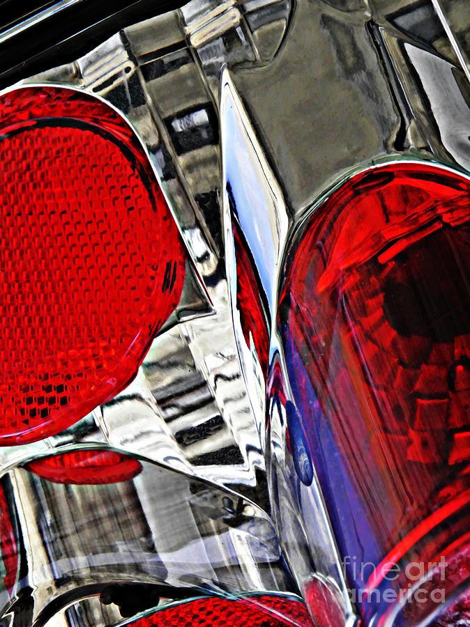 Glass Photograph - Brake Light 35 by Sarah Loft