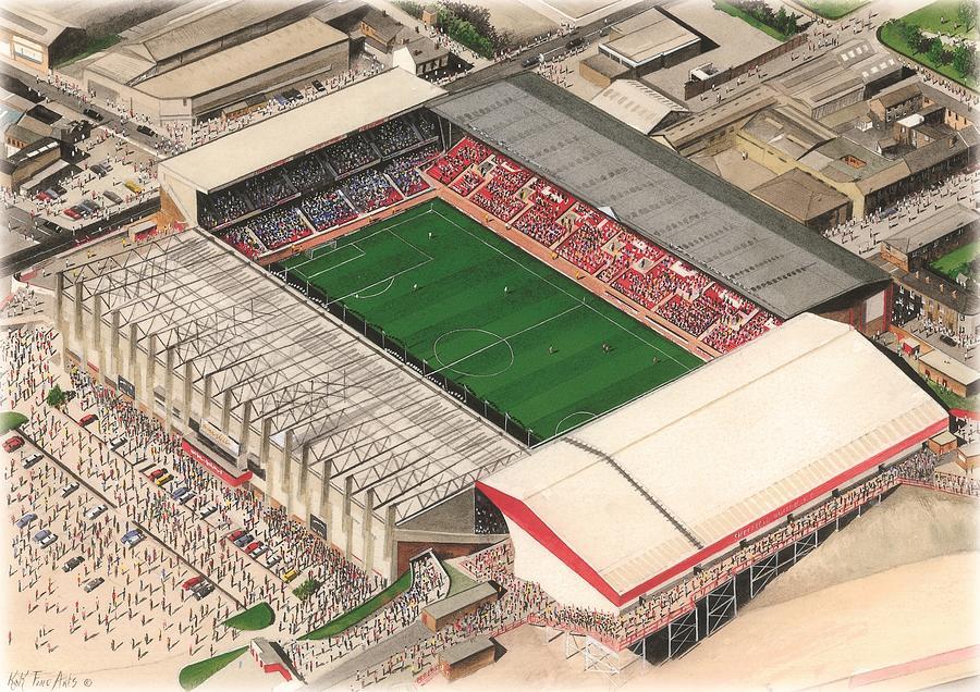 Bramall Lane Sheffield United Painting By Kevin Fletcher