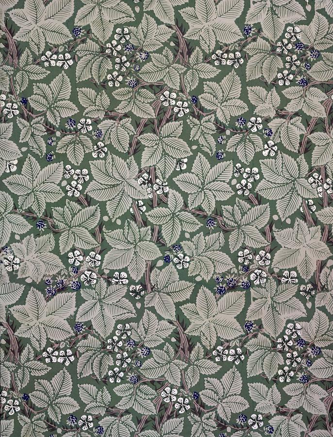 Bramble Tapestry - Textile - Bramble Wallpaper Design by Kate Faulkner