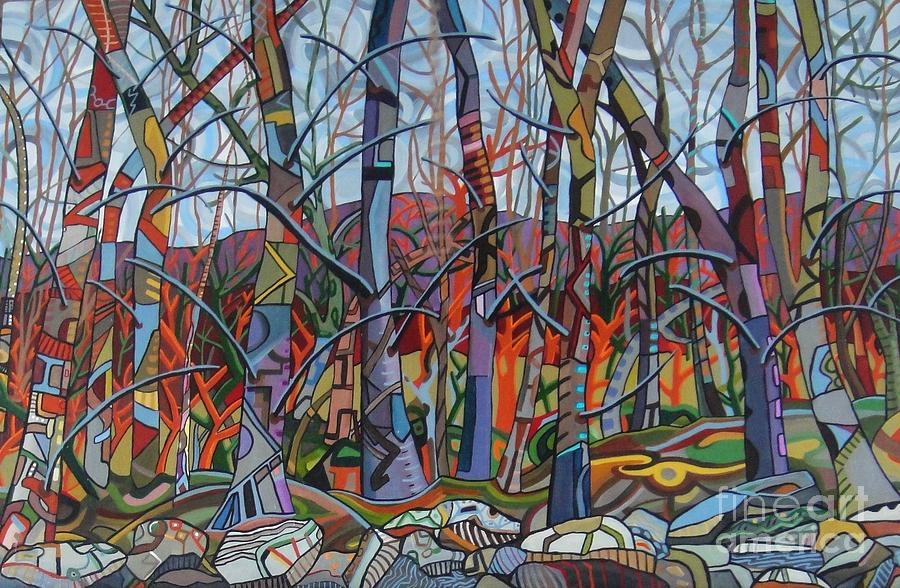 Trees Painting - Branching Out by Deborah Glasgow