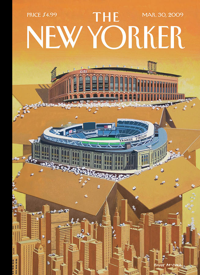 Opening Day Painting by Bruce McCall