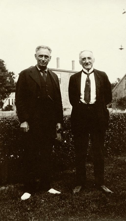 Jacques Loeb Photograph - Brandeis And Loeb by American Philosophical Society