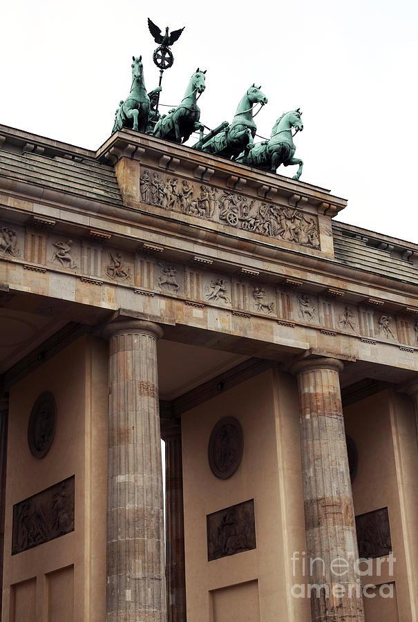 Architecture Photograph - Brandenburg Gate by John Rizzuto
