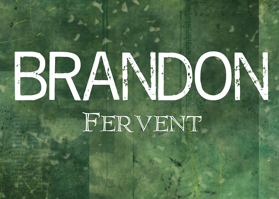 The Painting - Brandon - Fervent by Christopher Gaston