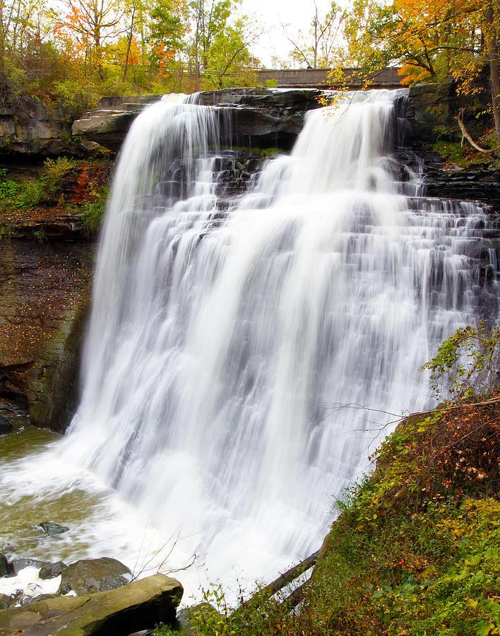 Cuyahoga Photograph - Brandywine Falls by David Yunker