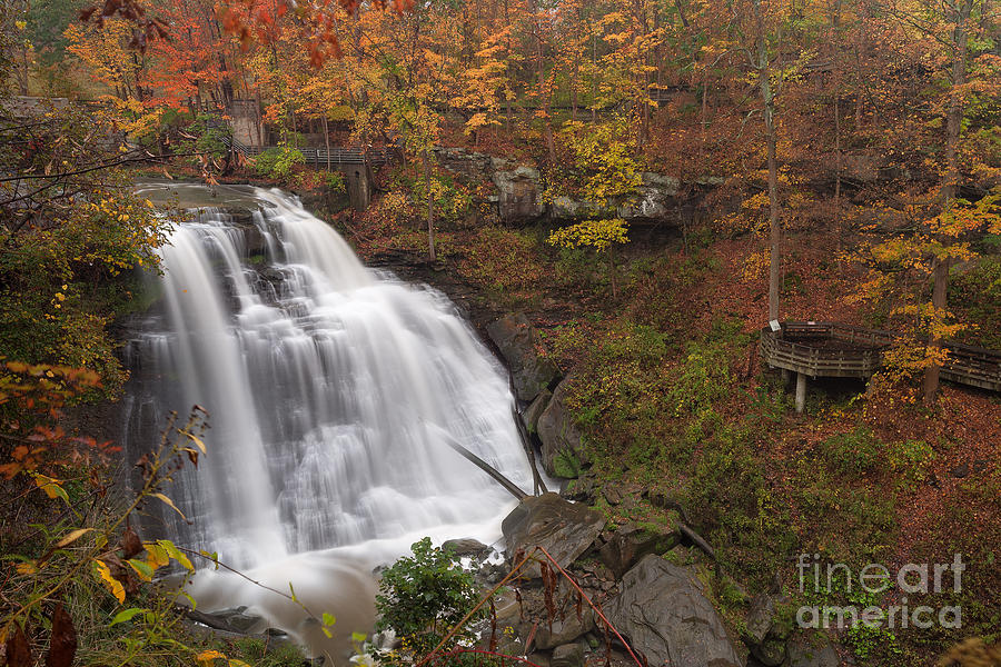 Trees Photograph - Brandywine Falls in Autumn by Joshua Clark