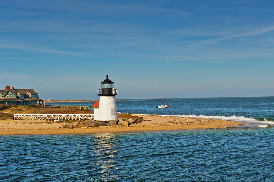 Nantucket Photograph - Brant Point Lighthouse Nantucket by Marianne Campolongo