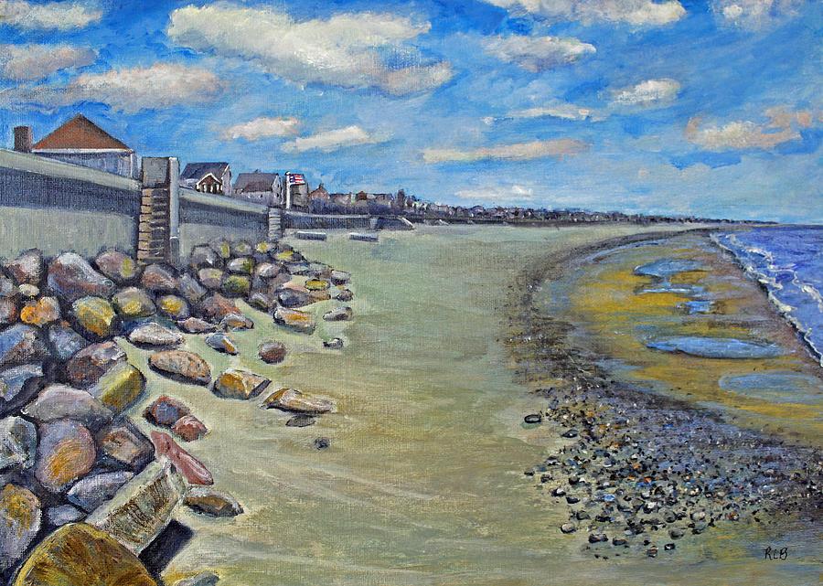 Marshfield Painting - Brant Rock Beach by Rita Brown