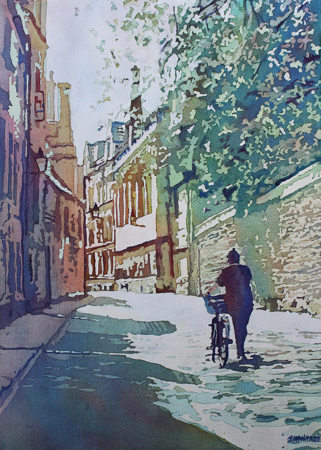 Oxford Painting - Brasenose Lane by Jenny Armitage