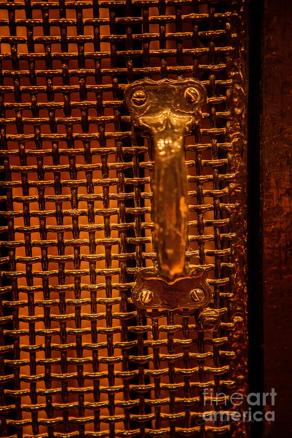 Photographer Photograph - Brass Door Handle by Iris Richardson