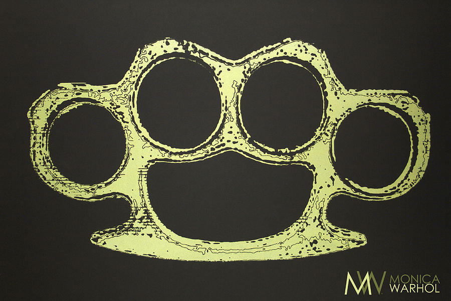Monica Warhol Painting - Brass Knuckles by Monica Warhol