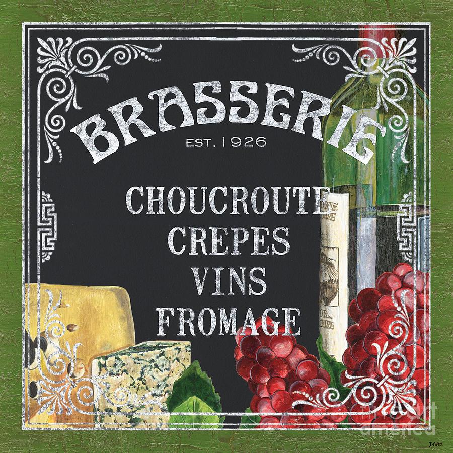Bistro Painting - Brasserie Paris by Debbie DeWitt