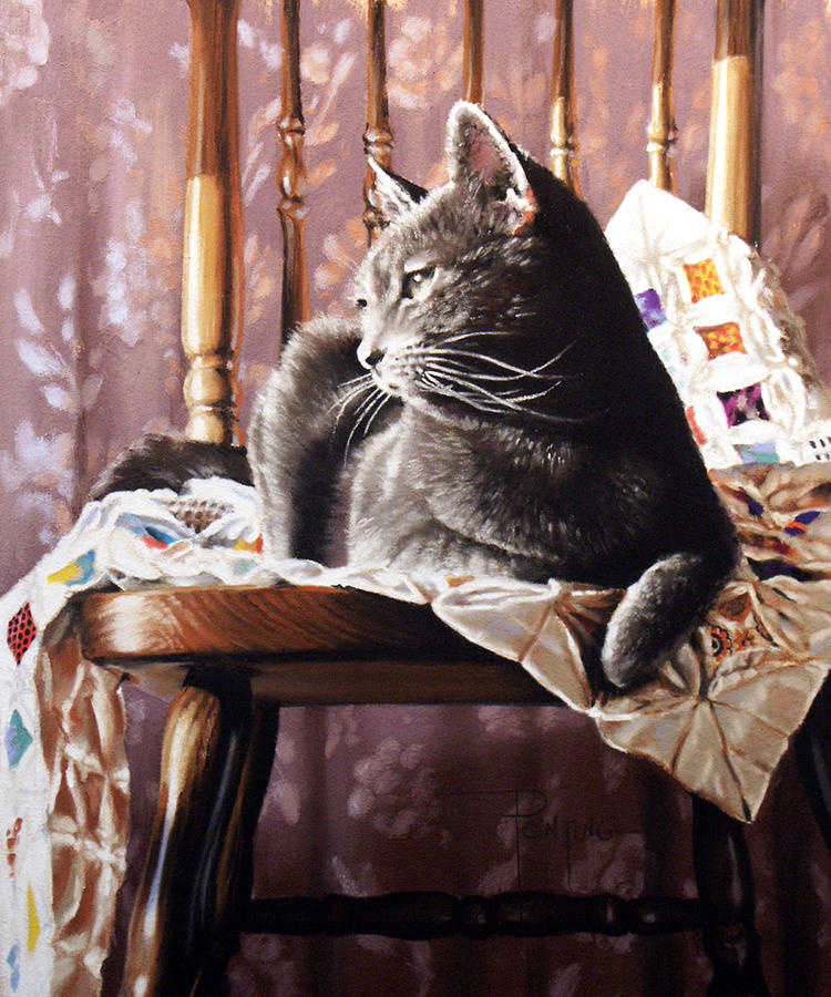 Cat Painting - Brat Cat by Dianna Ponting