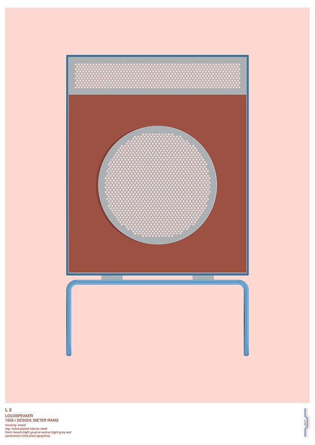 Braun Digital Art - Braun L2 Loudspeaker - Dieter Rams by Peter Cassidy