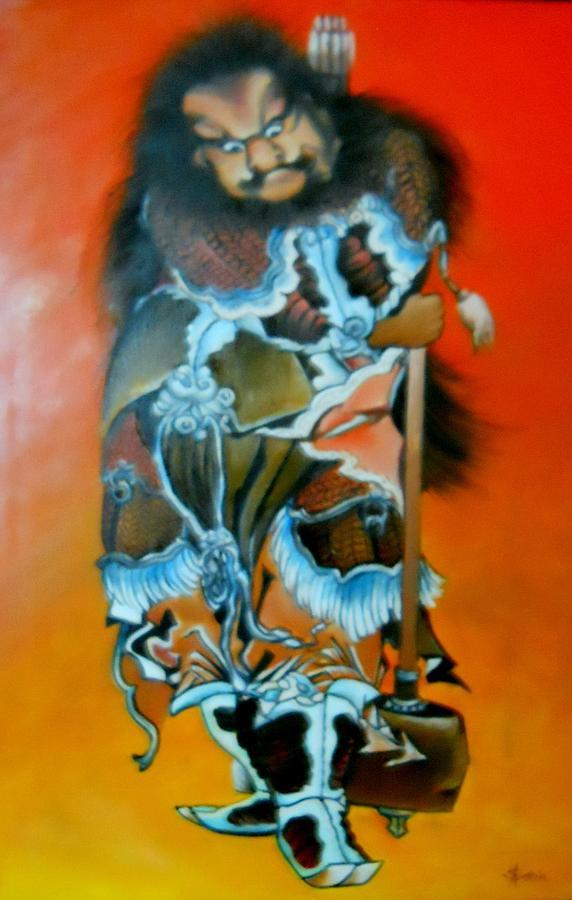 Warrior Painting - Brave warrior by Sorin Apostolescu
