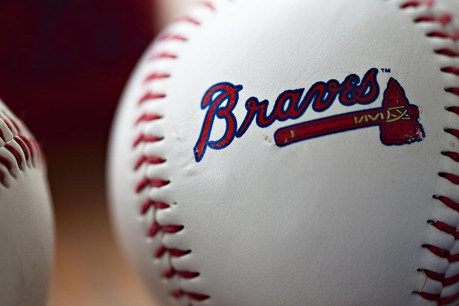 Baseball Photograph - Braves Baseball by Ricky Barnard