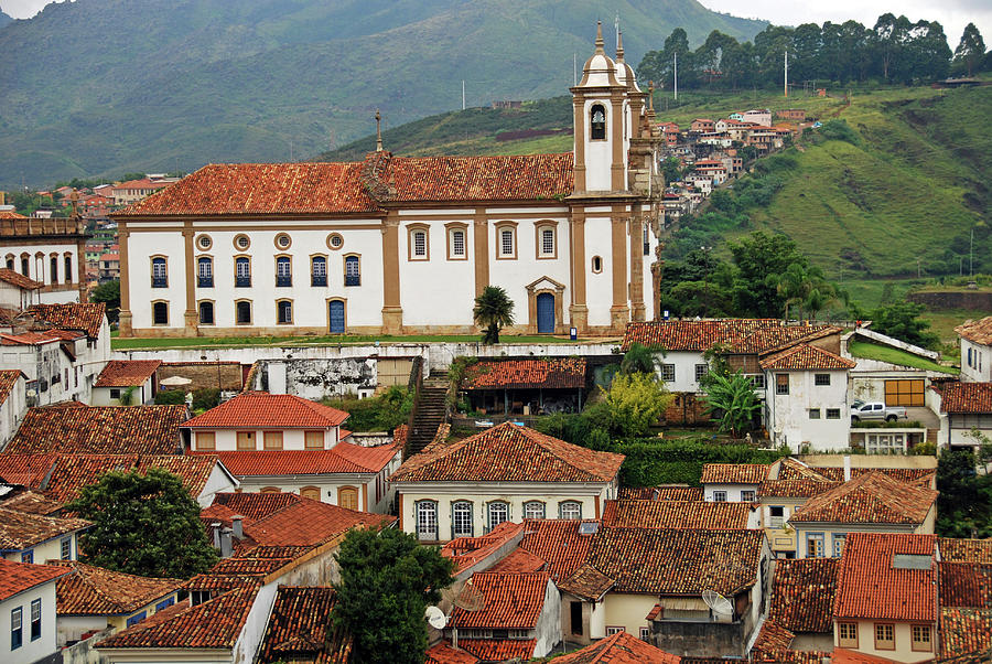 America Photograph - Brazil, Minas Gerais, Ouro Preto, View by Anthony Asael