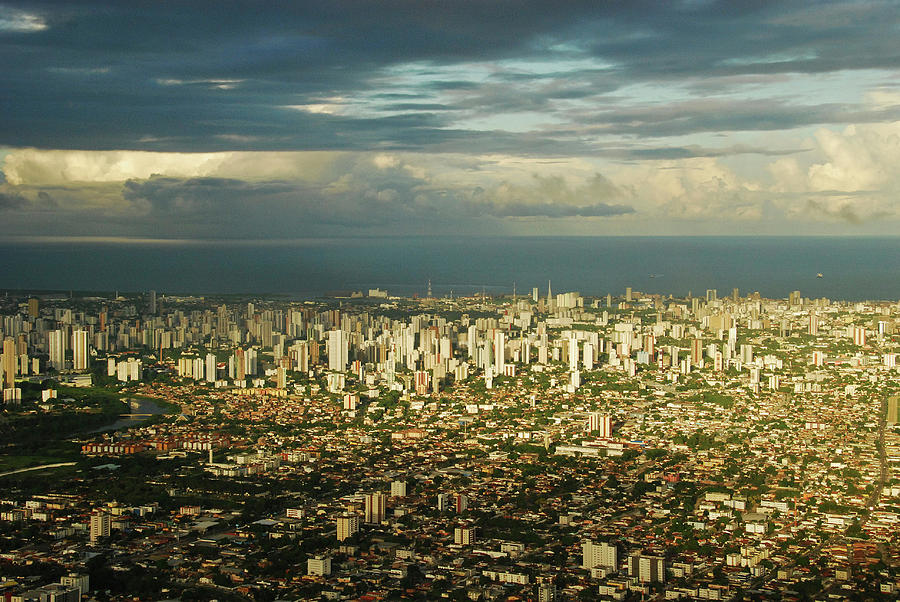 America Photograph - Brazil, Pernambuco, Recife, Cityscape by Anthony Asael