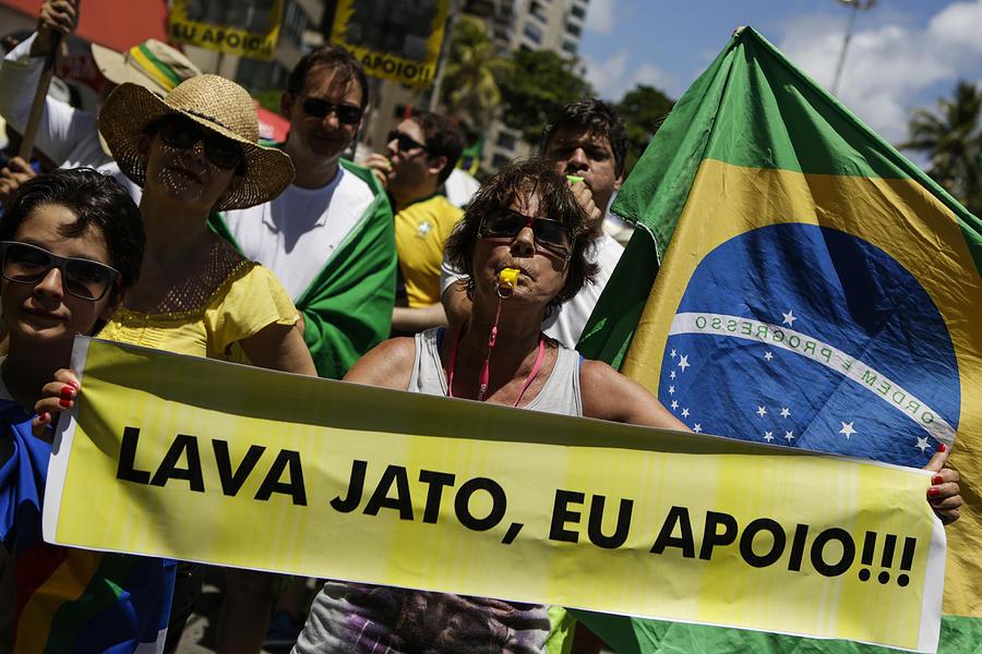 Brazilians Protest Against Corruption Photograph by NurPhoto