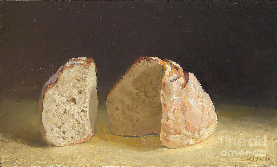 Still Life Painting - Bread After Caravaggio by Ben Rikken
