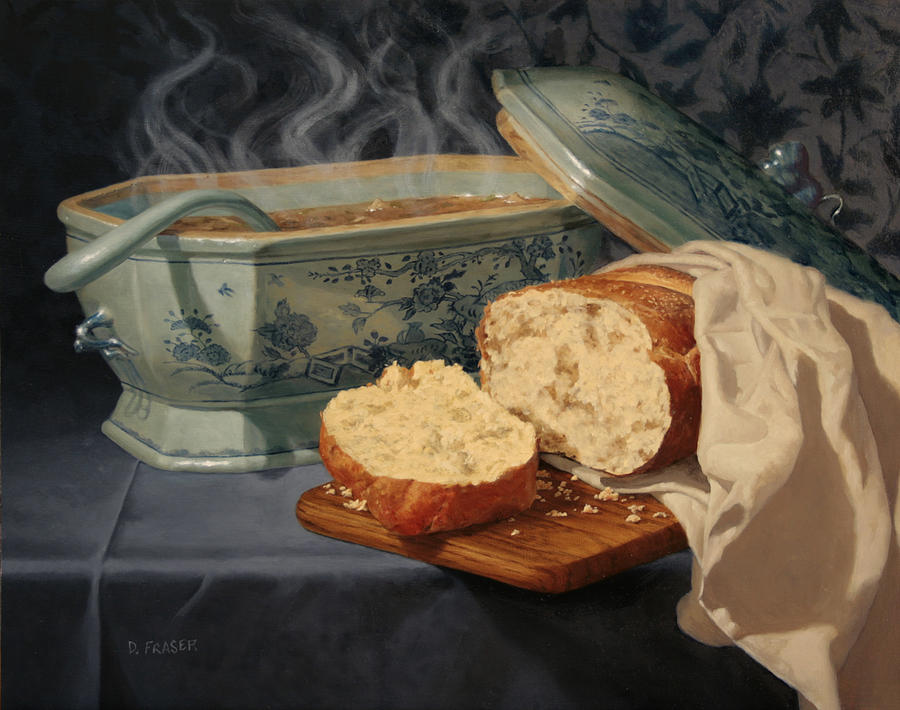 Bread And Soup Painting By Diane Fraser