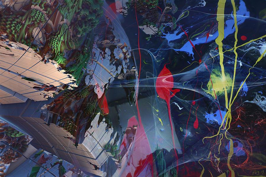 Abstract Digital Art - Break Through by Roger Pearce