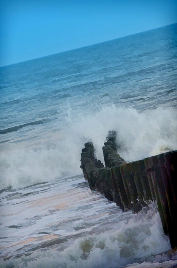 Waves Photograph - Breaker Breaker by Beth Sawickie