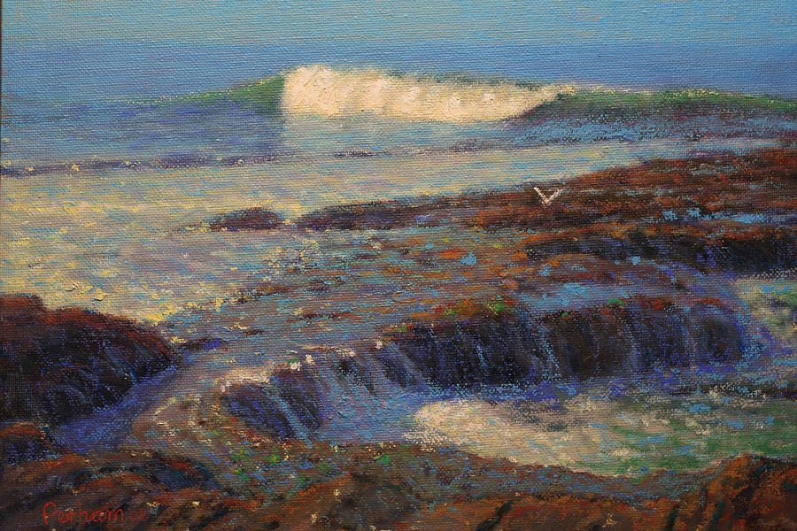 Impressionist Painting - Breaker by Terry Perham