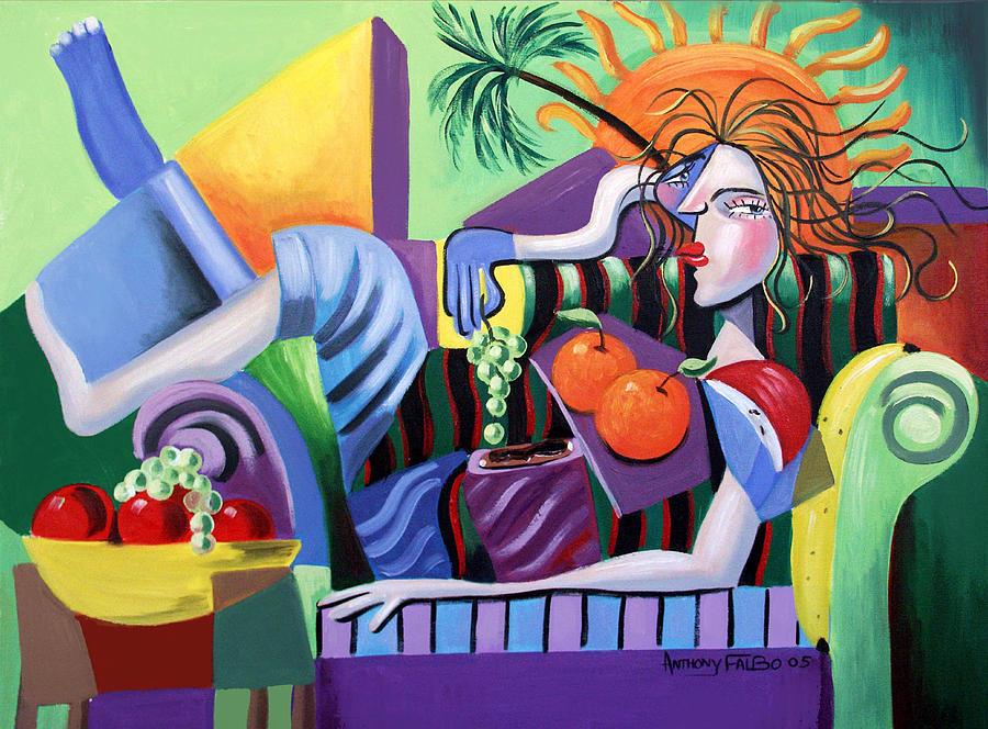 Breakfast Painting - Breakfast At Tiffanies  by Anthony Falbo