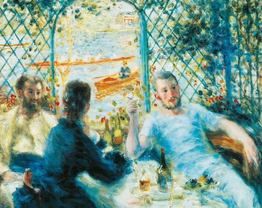 Painting Painting - Breakfast By The River by Pierre-Auguste Renoir