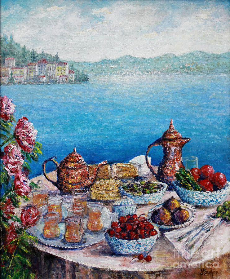 Still Life Painting - Breakfast In Istanbul by Lou Ann Bagnall