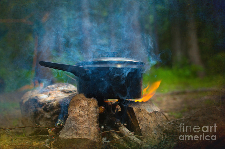 Fire Photograph - Breakfast by The Stone Age