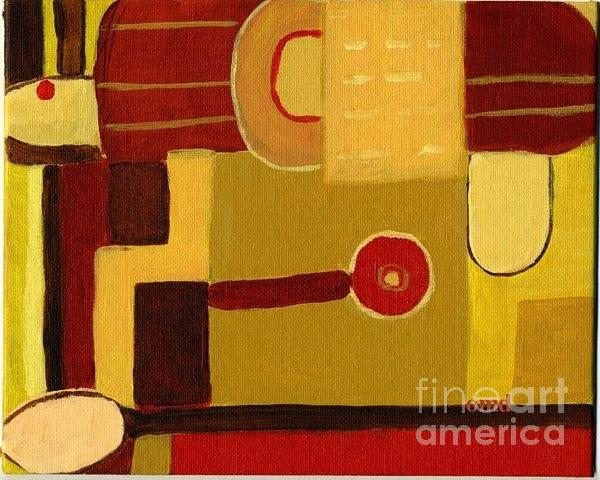 Red Painting - Breakfast Time 1 by Olivia  M Dickerson