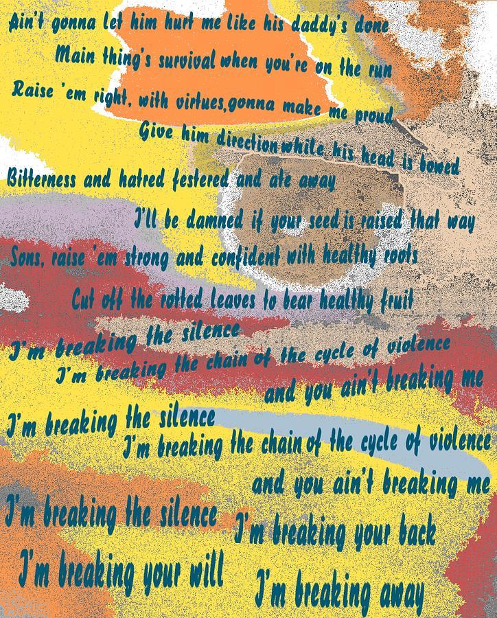 Breaking Away Mixed Media - Breaking Away by Pharris Art