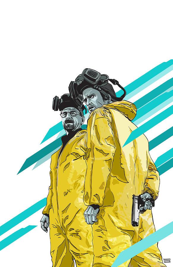 Digital Digital Art - Breaking Bad by Jeremy Scott