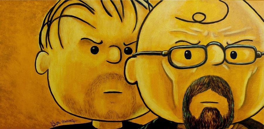 Peanuts Painting - Breaking Brown by Al  Molina