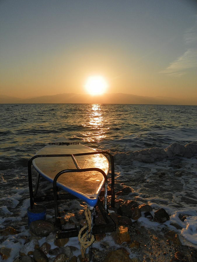 Sunrise Photograph - Breaking Dawn At The Dead Sea by Noreen HaCohen