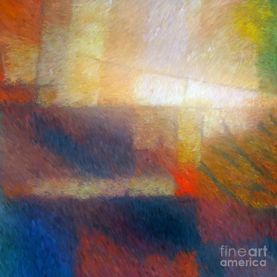 Abstract Painting - Breaking Light by Lutz Baar
