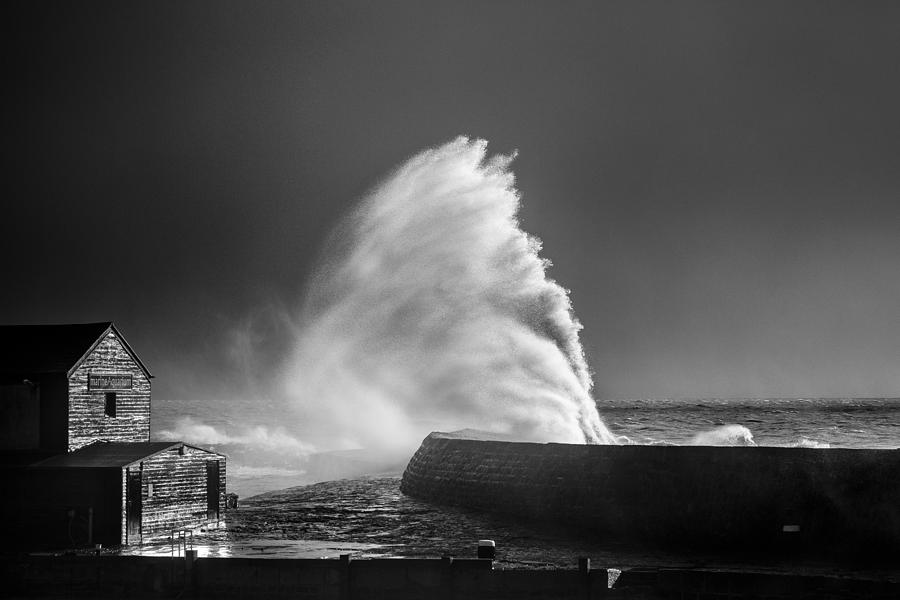Dorset Photograph - Breaking Wave by Tim Booth