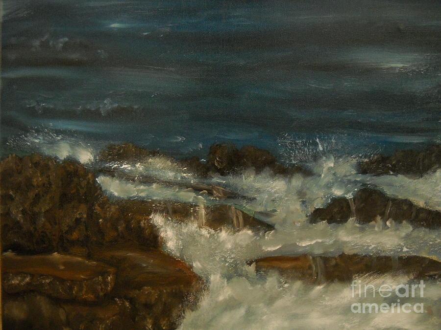 Sea Painting - Breaking Waves by Nicla Rossini