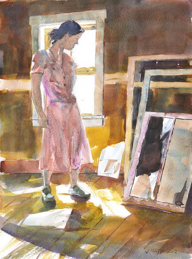 Sun Through Window Painting - Breakthrough by Jeff Mathison