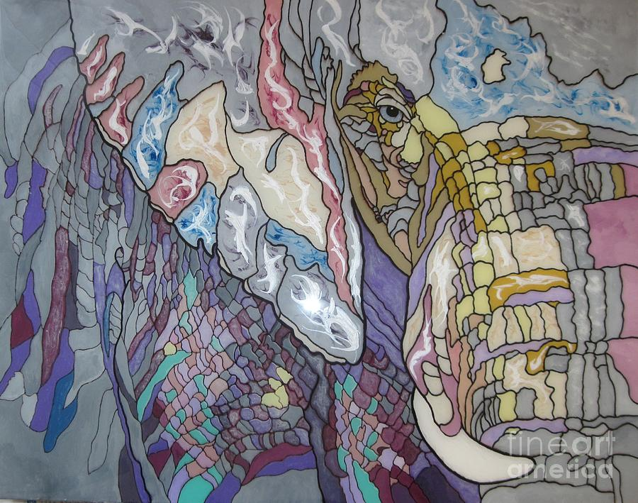 Elephant Painting - Breakthrough by Jennifer  Donald