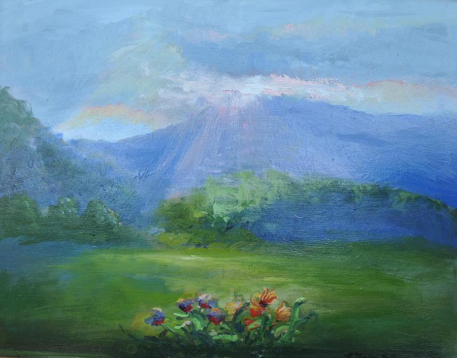 Breakthrough Painting - Breakthrough Light by Patricia Kimsey Bollinger